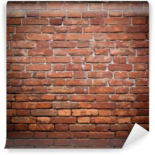 Old grunge red brick wall texture Wall Mural - Vinyl