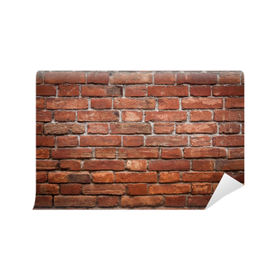 Old grunge red brick wall texture Wall Mural • Pixers ...