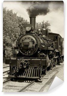 Wall Mural - Vinyl Old locomotive sepia