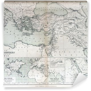 Medieval map of sicily wall mural pixers we live to change old map of countries mentioned in the bible 1870 vinyl wall mural gumiabroncs Choice Image