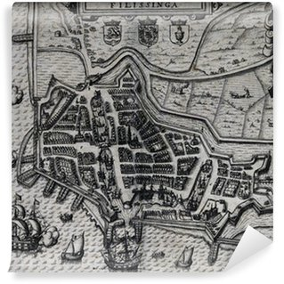 Old map of Vlissingen The Netherlands 17th century Wall Mural