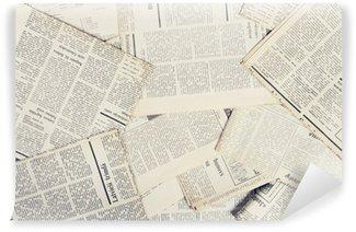 Vinyl Wall Mural old newspapers