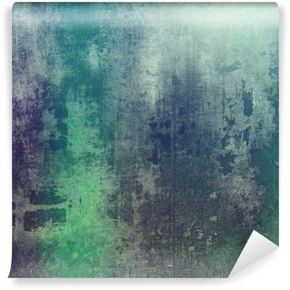 Old texture as abstract grunge background. With different color patterns: green; purple (violet); gray; cyan Wall Mural - Vinyl