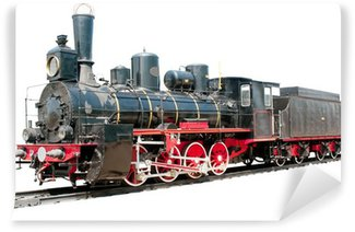 Wall Mural - Vinyl Old train isolated on white