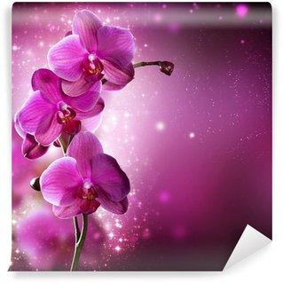 Wall Mural - Vinyl Orchid Flower border design