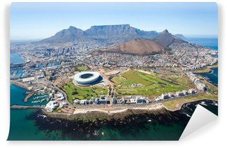 Wall Mural - Vinyl overall aerial view of Cape Town, South Africa