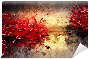 Blood splatter futuristic pixers we live to change for Bloody wall mural