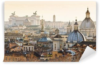 Wall Mural - Vinyl Panorama of old town in Rome, Italy