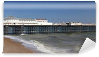 Vinyl Wall Mural Panoramic view of the iconic and historic Brighton pier