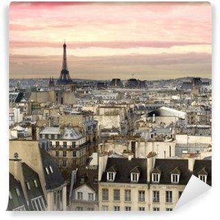 Wall Mural - Vinyl Paris Aussicht Eiffelturm