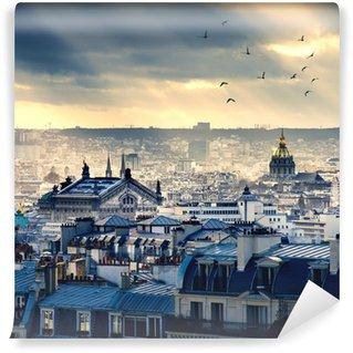 Wall Mural - Vinyl Paris cityscape taken from Montmartre