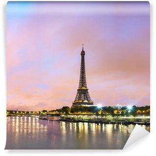 Wall Mural - Vinyl Paris cityscape with Eiffel tower