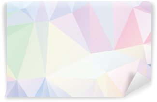 Pastel Polygon Geometric Wall Mural - Vinyl