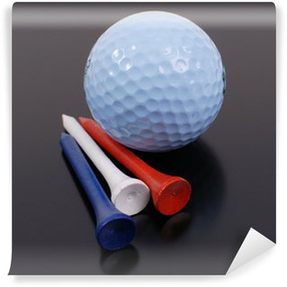 Patriotic Colored Golf Tees with Golf Ball