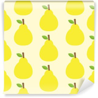 Wall Mural - Vinyl pattern vector background Cute fruit color Look delicious Round-