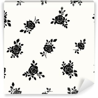 Wall Mural - Vinyl Pattern with roses