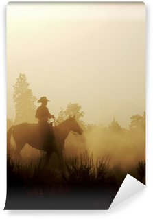 Peaceful Cowboy Vinyl Wall Mural