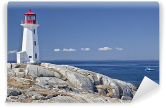 Wall Mural - Vinyl Peggy's Cove lighthouse, Nova Scotia, Canada.