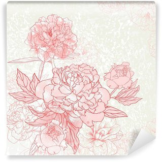 Peony background Wall Mural - Vinyl