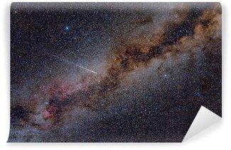 Perseid Meteor Crossing the Milky Way