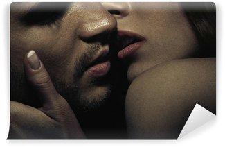 Photo of sensual kissing couple Wall Mural - Vinyl