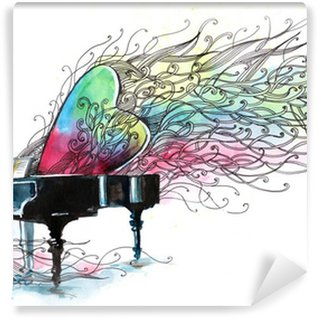 Wall Mural - Vinyl piano music (series C)