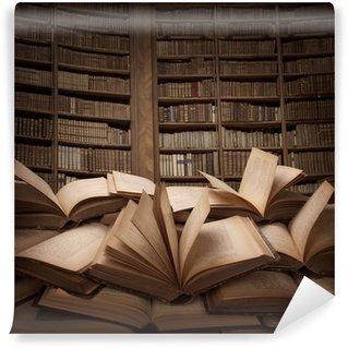 Wall Mural - Vinyl Pile of books