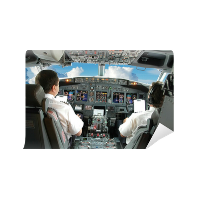 Pilots in the cockpit wall mural pixers we live to change for Cockpit wall mural