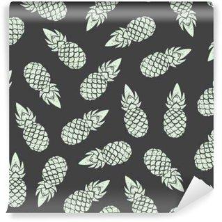 Pineapple background, seamless pattern. Vector illustration EPS 10 Wall Mural - Vinyl