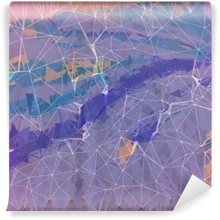 Vinyl Wall Mural Pink and purple grunge abstract background illustration