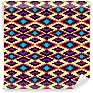 pink and purple polygons on a light background seamless geometric pattern