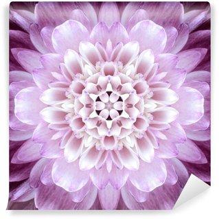 Pink Concentric Flower Center. Mandala Kaleidoscopic design Wall Mural - Vinyl