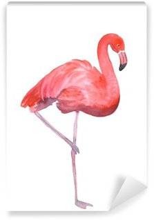 Wall Mural - Vinyl Pink flamingo isolated