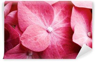 Pink hortensia Wall Mural - Vinyl
