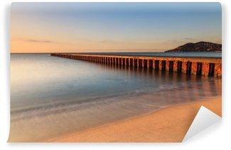 Plage du sud de la France au lever du soleil: Cannes - Alpes-Maritimes
