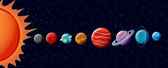 Wall Mural   Vinyl Planets In Solar System   Graphic Resources