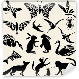 Wall Mural - Vinyl Pochoirs animaux