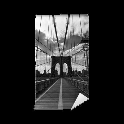 Pont de brooklyn noir et blanc new york wall mural - Poster mural noir et blanc ...