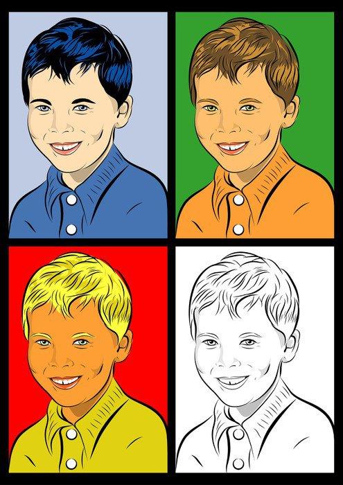 Wall Mural - Vinyl portrait pop art enfant - Styles