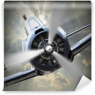 Vinyl Wall Mural Propeller plane.
