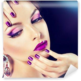 Wall Mural - Vinyl purple makeup