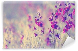 purple wild flowers Wall Mural - Vinyl