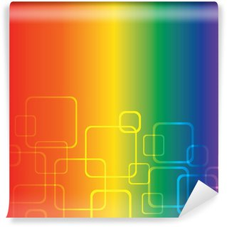 Wall Mural - Vinyl Rainbow Background With Squares