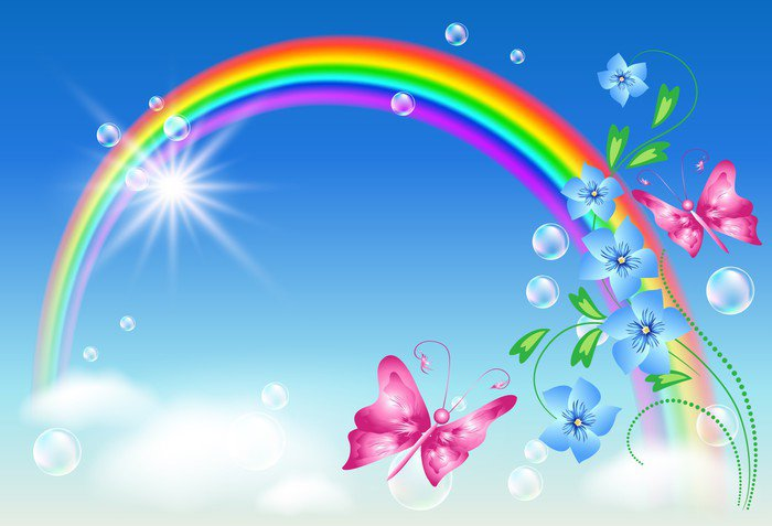 Rainbow in the sky Wall Mural - Vinyl • Pixers® • We live ...