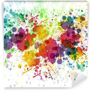 Wall Mural - Vinyl raster version of Abstract colorful splash background