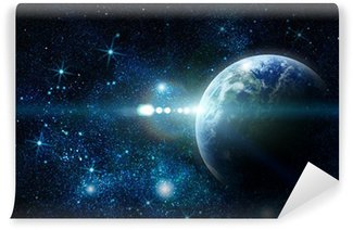 realistic planet earth in space Wall Mural - Vinyl