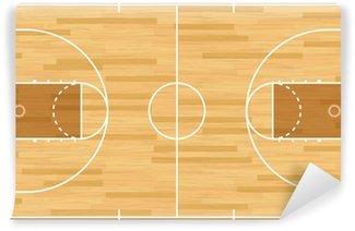 Wall Mural - Vinyl Realistic Vector Basketball Court