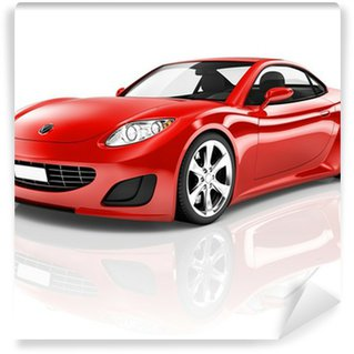 Wall Mural - Vinyl Red 3D Sport Car