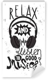 Relax and listen to good music Wall Mural - Vinyl