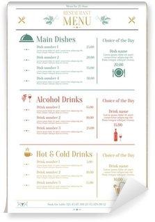 Wall Mural - Vinyl Restaurant menu template